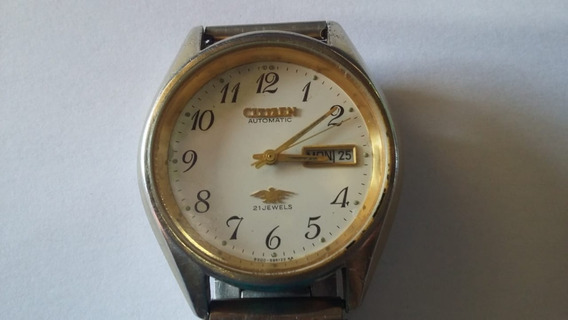Relógio Citizen Automatic 21 Jewels Water Resist Stainless