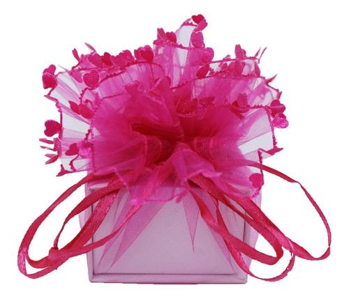 50 Saquinhos Flor De Organza Bem Casado - Importado