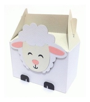 Caixa Box Cute Ovelha - Arquivo Silhouette