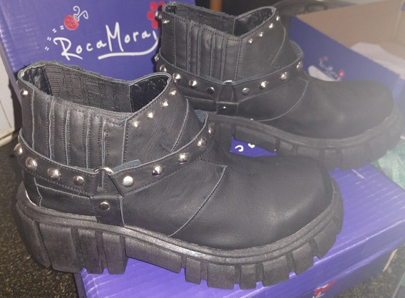 Zapatos Tipo Borceguí Cortos Suela Alta