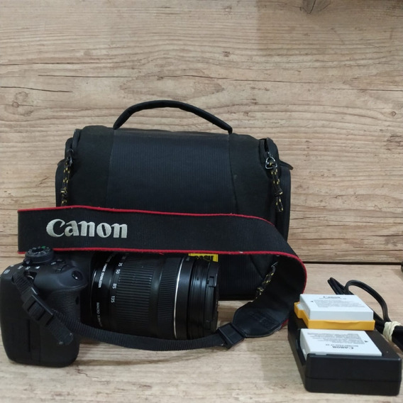 Canon T5i + Lente 18-135 Mm + Bag + Carregador +2 Baterias
