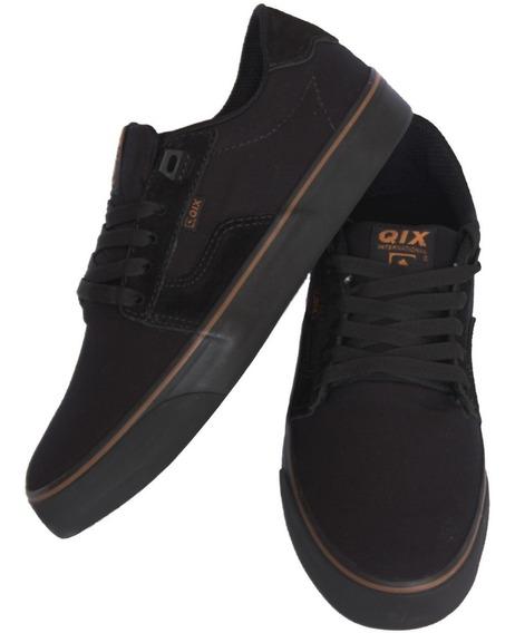 Tênis Skat Qix 100% Original Preto Com N F