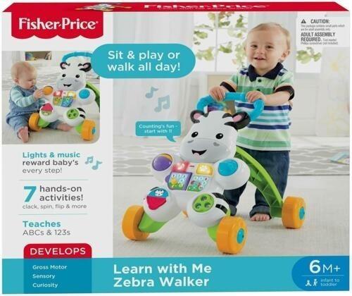 Andadera Caminadora De Bebe Ficher Price Zebra Walker 70 U$a