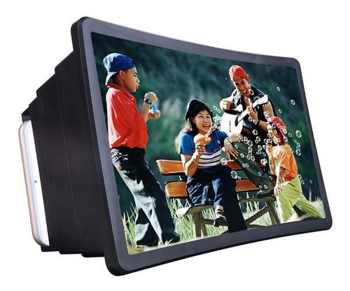 Imagen 1 de 6 de Celular Screen Lupa 3d Proyector Pantalla Negro