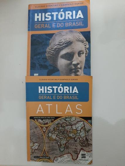 História Geral E Do Brasil C/atlas - Vicentino - Vol Único