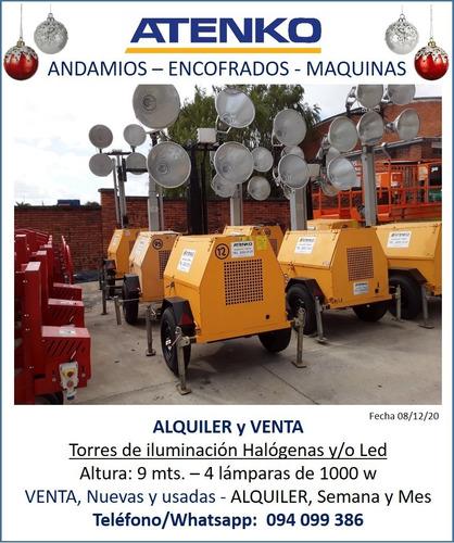 Venta De Torre De Iluminación 4 Focos De 1000w