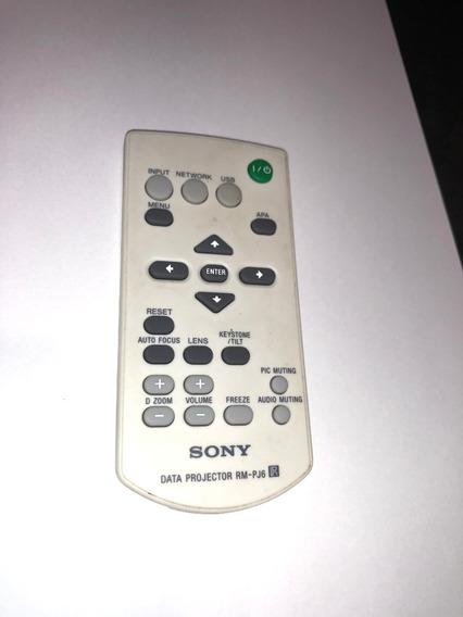 Controle Remoto Sony Rm-pj6 Vpl Es5, Es7 Original Usado