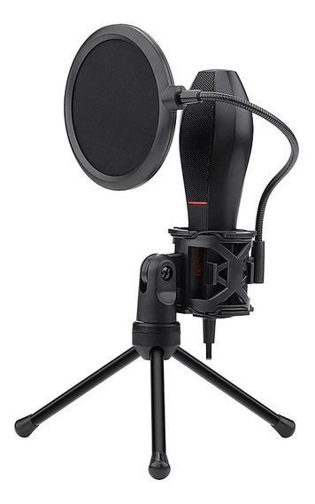 Microfone Gamer Stream Redragon Quasar Gm200 Pop Filter Usb