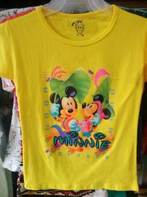 1 Blusa De Moda Para Niña Varios Estampados Tela De Algodon