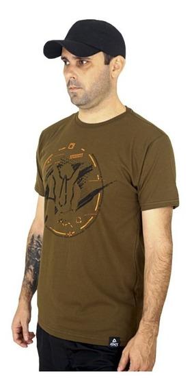 Camiseta Estampada Rhino Race | Verde