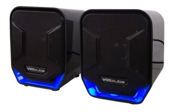 Caixa De Som Voxcube Computador Smartphone Usb 8w Com Bass
