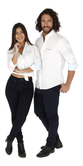 Camisas Parejas Porto Blanco Mujer O Hombre De-1222
