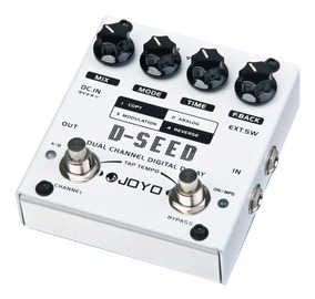 Pedal De Guitarra Joyo D-seed Dual Delay + Fonte + Cabo