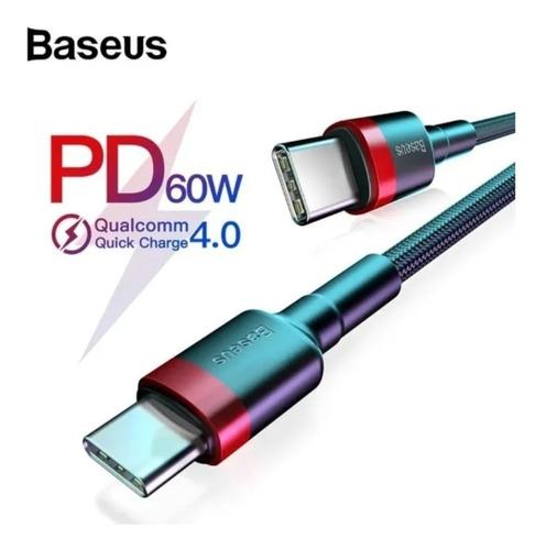 Cable De Datos Tipo C A Tipo C /baseus Carga Rapida 2 Metros