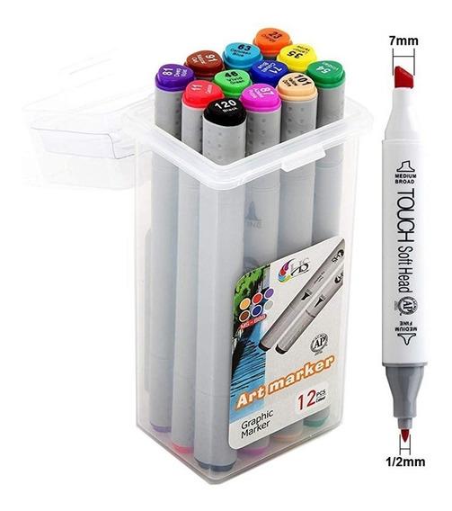 Marcadores Superior Art Touch Doble Punta X 12 Colores