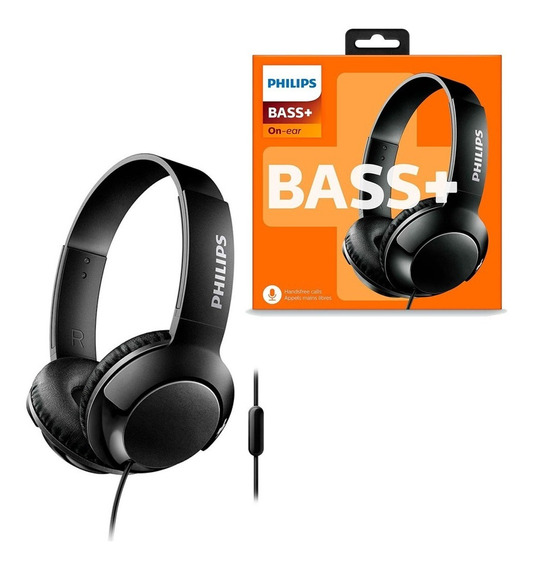 Fone De Ouvido Philips On-ear Bass+ Preto Shl3075bk/00 P2