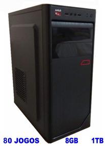 Cpu Gamer A6 3.8 Ghz 8gb Hd 1 Tera Com 80 Jogos Gta V Lol