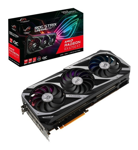 Placa De Video Asus Rx 6700 Xt 12gb Oc Rog Strix Gaming