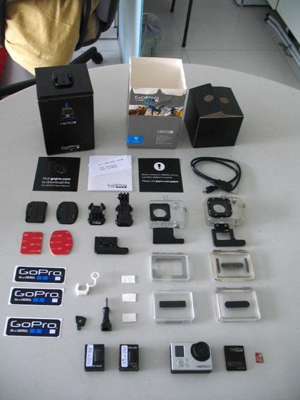 Câmera Gopro Hero 3 Silver + 32gb Sandisk Extreme Com Caixa