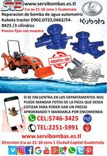 Reparacion De Bomba De Agua Automotriz Kubota D902 3cl