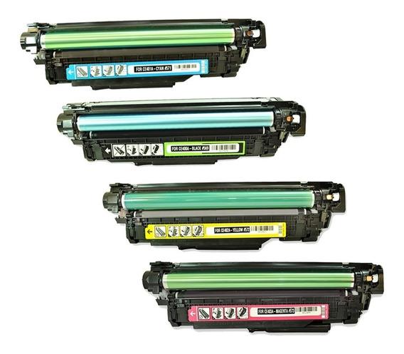 Kit Toner Hp M551 Ce400a Ce401a Ce402a Ce403a 507a Novo