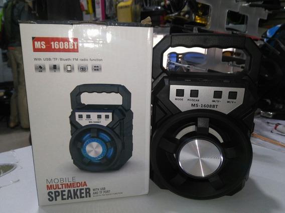 Parlante 100w Bluetooth Usb Tarjeta Radio Portátil Led Color