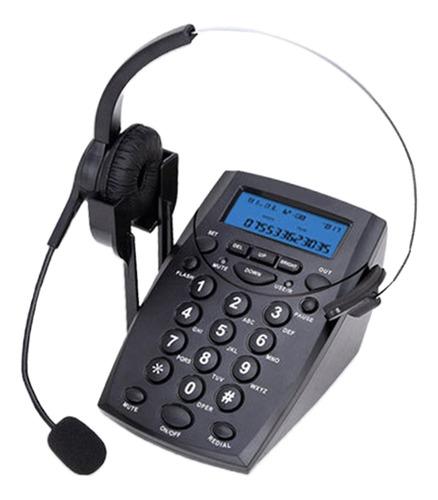 Imagen 1 de 6 de Teléfono Lcd Con Auricular Monoaural Con Cable Para
