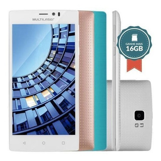 Smartphone Multilaser Ms60 Colors Dual P9006 Branco + 2 Capa