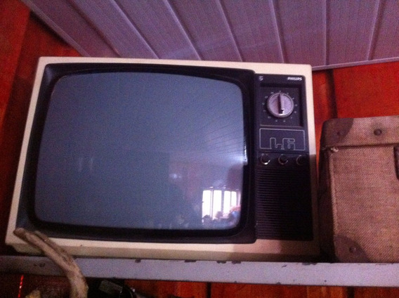 Tv Philips Bege Antiga Vintage Para Decoraçao