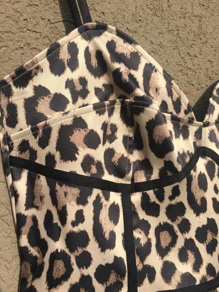 Vestido Animal Print H&m Talle 10 (m/l)