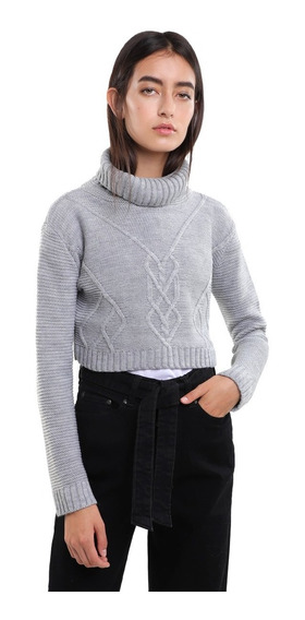 Suéter Grueso Mujer Cuello Alto Varios Colores Lob