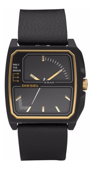 ***** Relógio Diesel Dz 1431 Pulseira Couro Preta *****