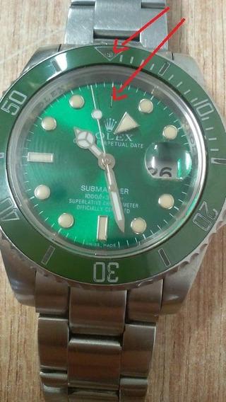 Relógio Submariner Automático Inox / Vidro Safira