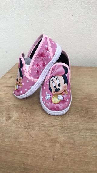 Tênis/ Sapatenis Baby Minnie Bebê Rosa