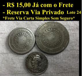 Lote De Moedas Nacionais/brasileiras Lote 24