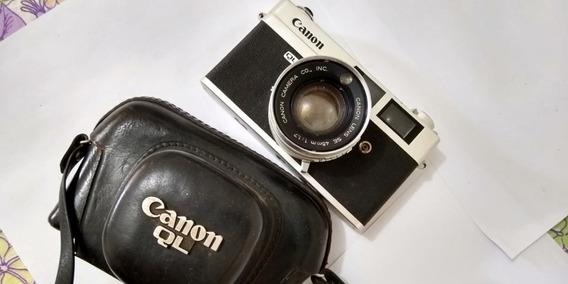 Câmera Canon Canonet Ql17 Analógica + Flash Frata + Bolsa