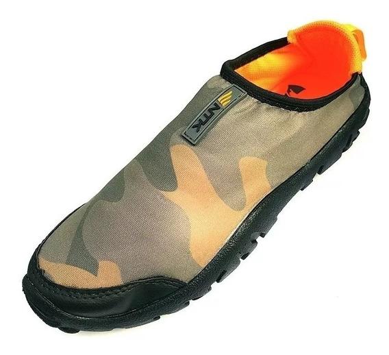 Sapato Sapatilha Tênis Híbrido Camuflado P/ Pesca Sub Mergulho Ntk