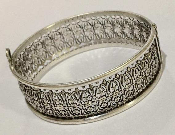 Pulseira Bracelete Prata Lei Antiga 6x5cm 1,8cm Larg