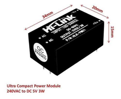 Mini Fuente Voltaje Hlk-pm01 Ac-dc 220v  A 5v 600ma Regulado