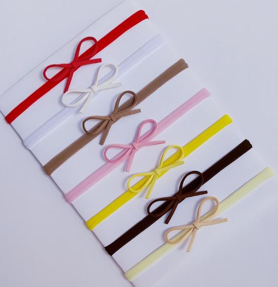 Lacinho Mini Kit Com 8 Faixinhas Bebê Menina Mercado Full