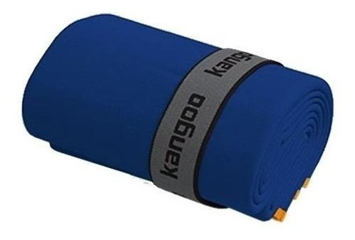 Toalla De Microfibra Kangoo Talla M Color Azul Con Naranja