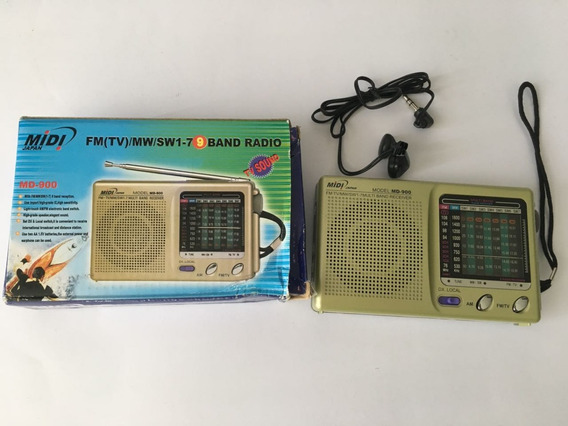 Rádio Midi Portátil Md-900 Am/fm Phone
