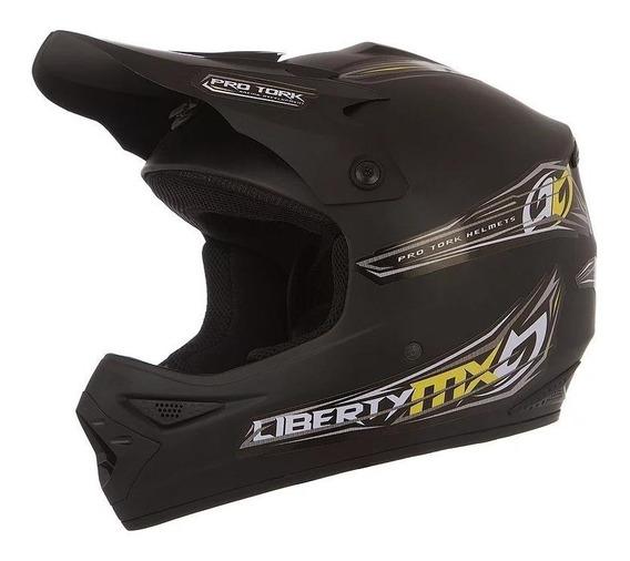 Capacete para moto cross Pro Tork Liberty MX Pro preto-fosco tamanho 58