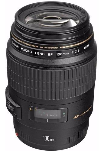 Lente Canon Ef 100mm F/2.8 Macro Usm Garantia Nova