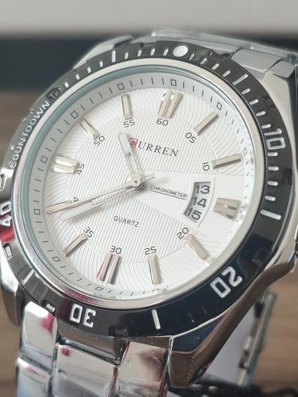 Relógio Masculino Original Curren Em Aço Inoxidável