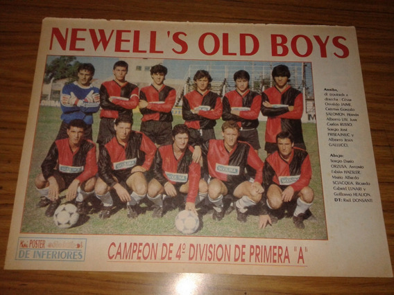 Poster Newell´s Campeon 4° Division 1989 (321)
