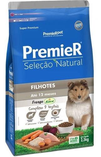 Premier Seleção Natural Frango- Cães Filhotes Médios - 2,5kg