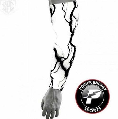 Manga De Brazo De Compresion De Deportes De Beisbol - Negro