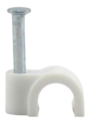 Grampo Fixa Fio Cabo Coaxial Rg 59 6mm Miguelão - 1000 Peças