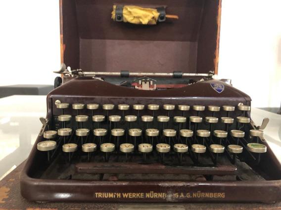 Maquina De Escrever Antiga Triumph Portatil (colorida)